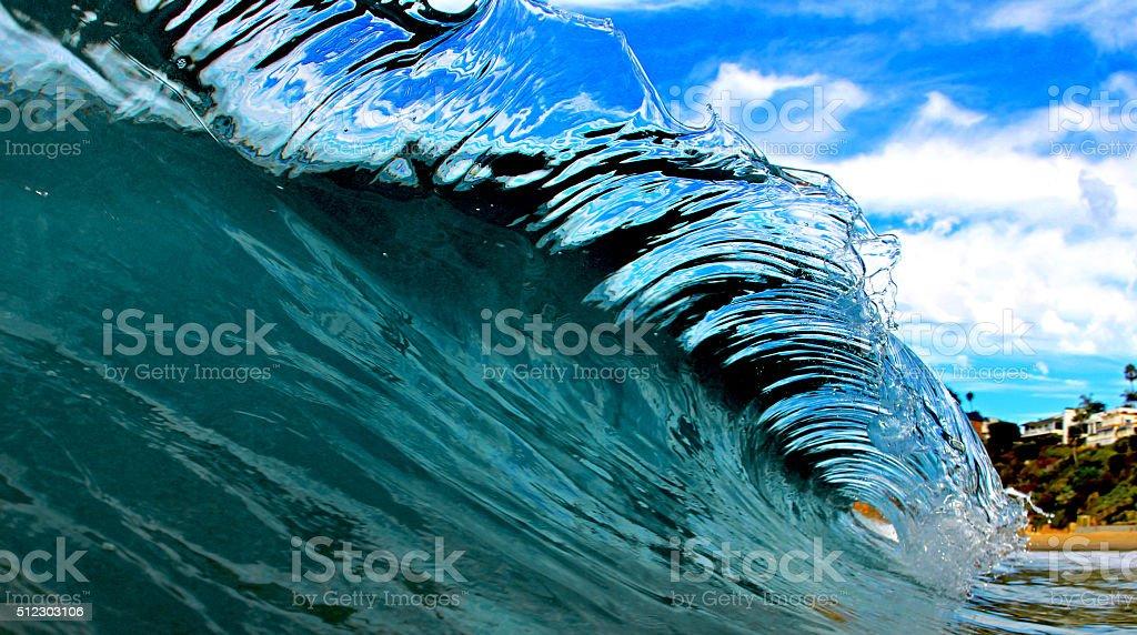 Most beautiful wave stock photo