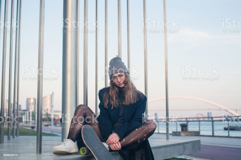Most desirable skater stock photo