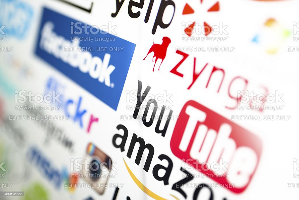 most famous website on the screen royalty-free stock photo
