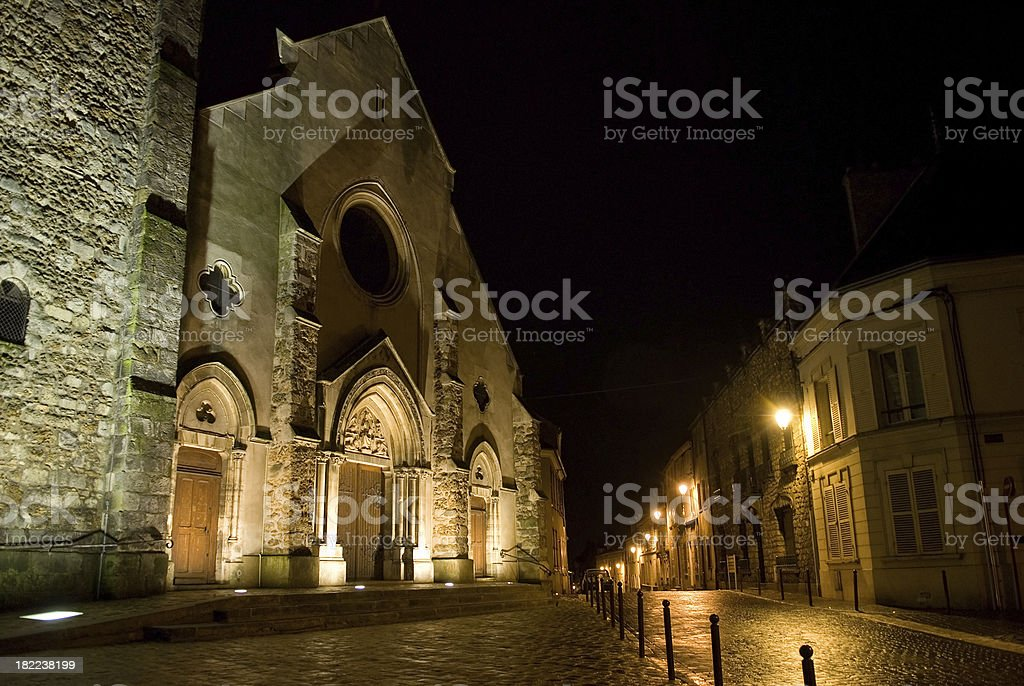 'Most Holy Trinity Church in Montlhéry, France' stock photo