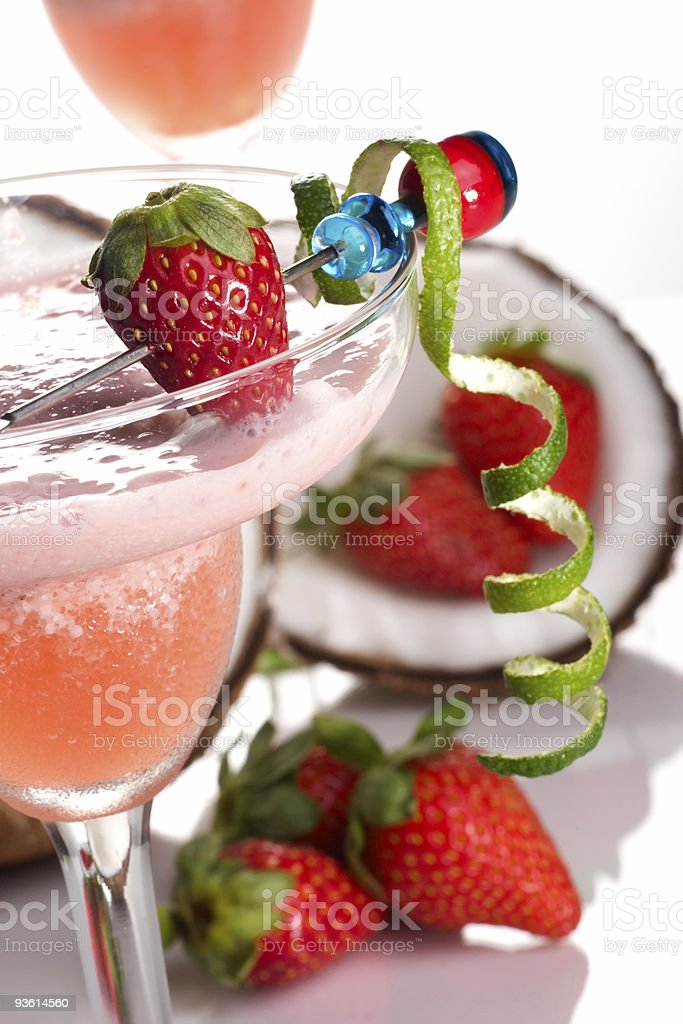 Most popular cocktails series - Strawberry Colada stock photo