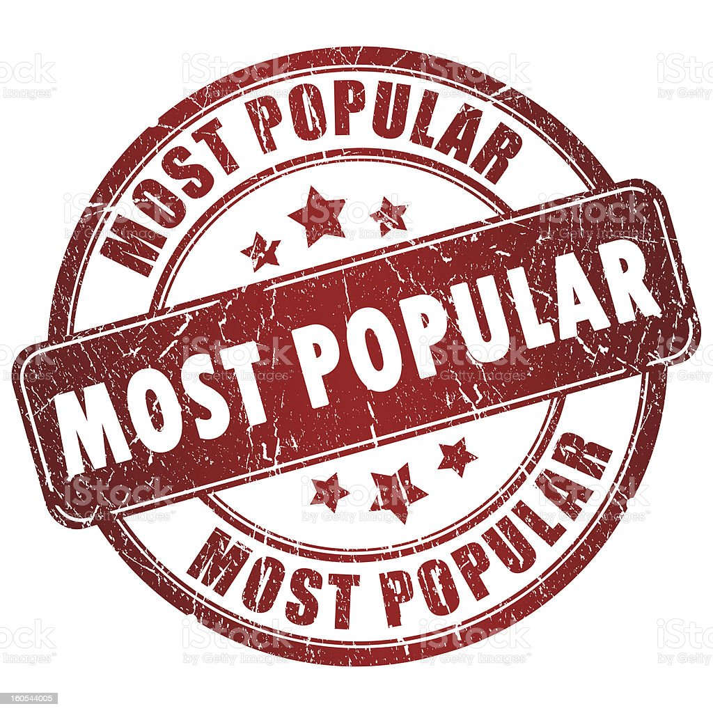 Most popular stamp royalty-free stock photo