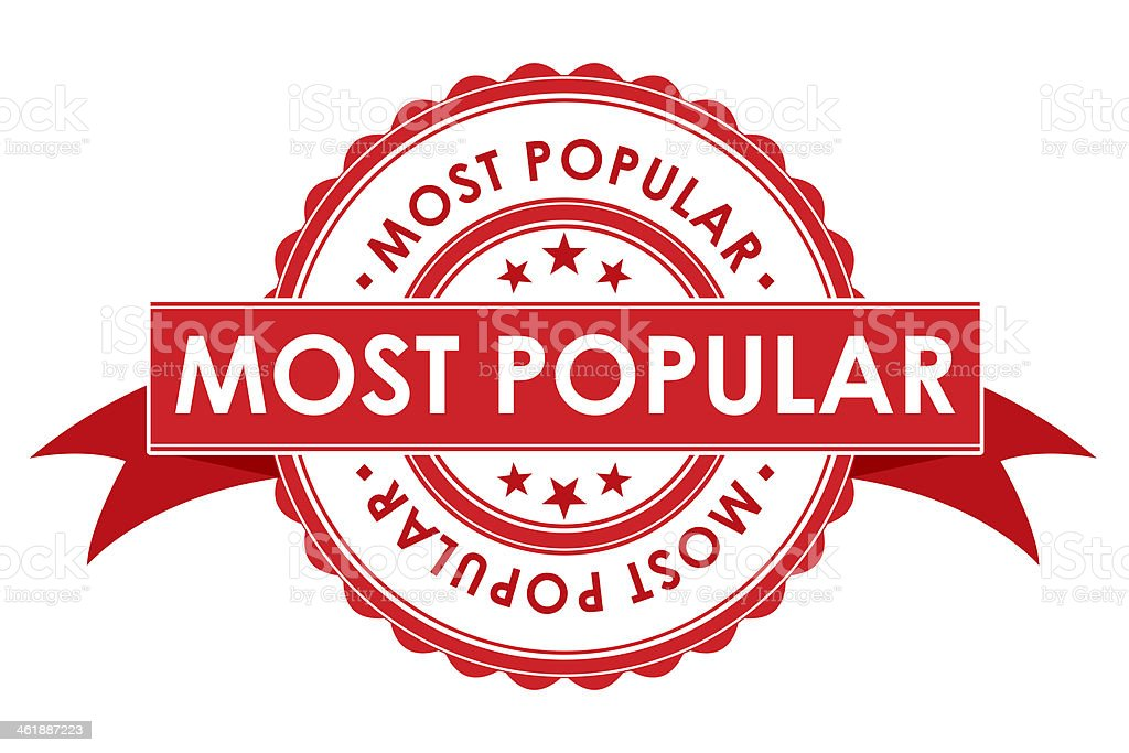 Most Popular Symbol With Ribbon stock photo