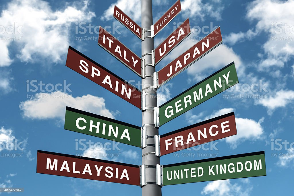 Most Popular Tourist Countries royalty-free stock photo