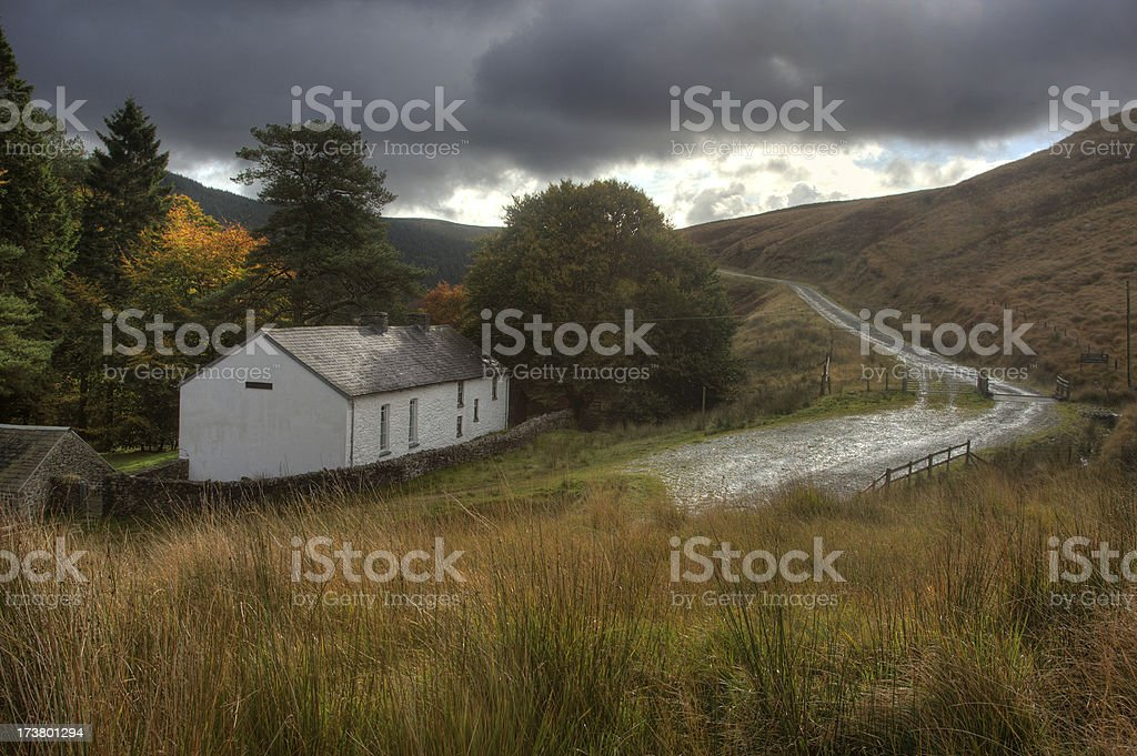 Most remote church in Wales royalty-free stock photo
