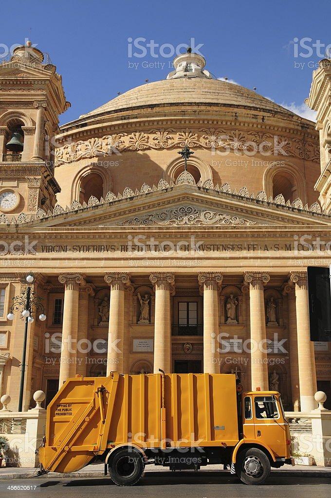 Mosta Dome, Maltese Islands. stock photo