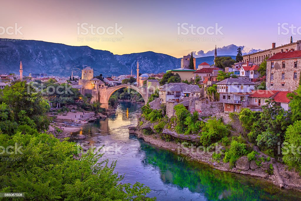 Mostar Bridge, Bosnia and Herzegovina stock photo