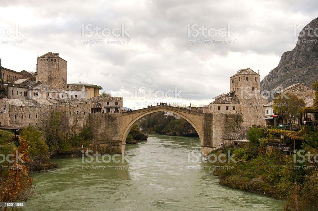 Mostar Bridge, Bosnia Herzegovina royalty-free stock photo