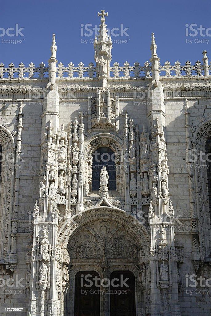 Mosteiro dos Jeronimos Lisbon royalty-free stock photo