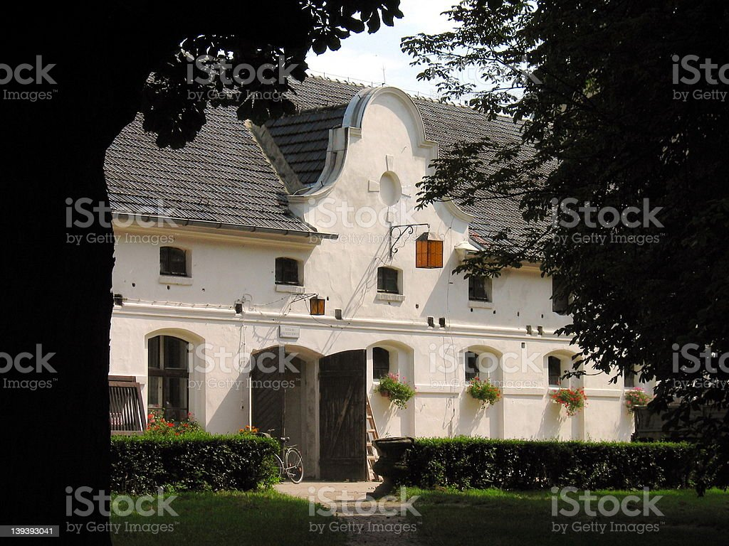 Moszna Stables royalty-free stock photo