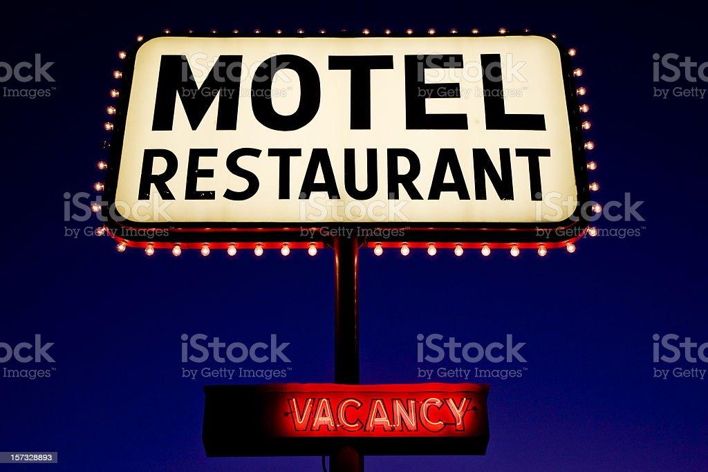Motel Advertising Sign stock photo