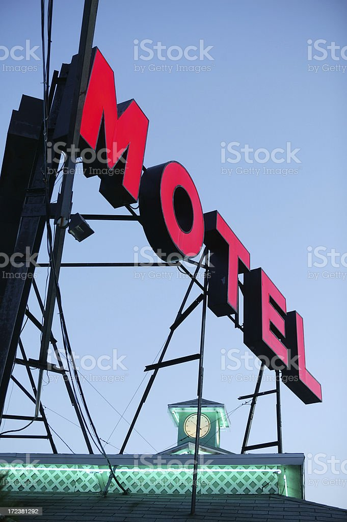 motel at night royalty-free stock photo