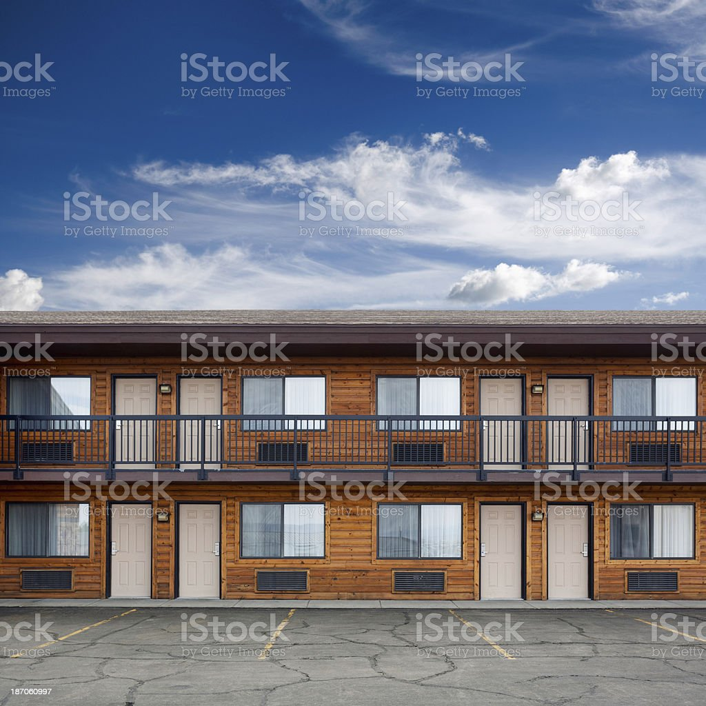 Motel building stock photo