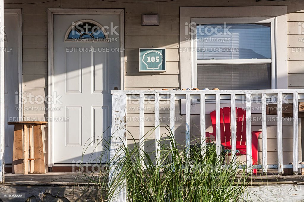 motel in the outer banks, USA stock photo