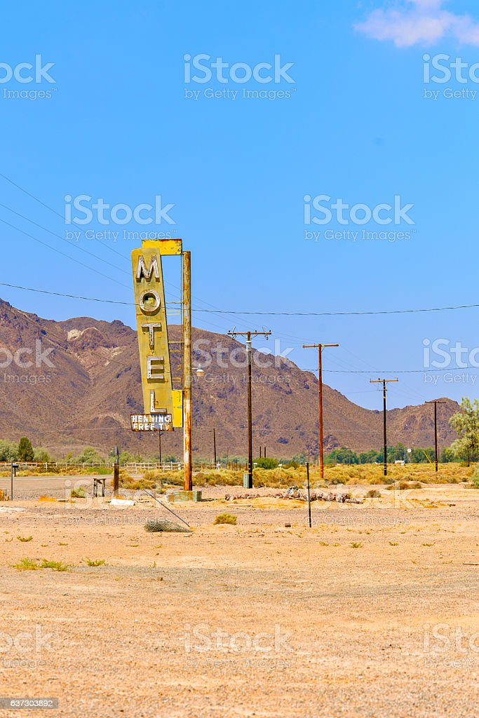 Motel in USA stock photo