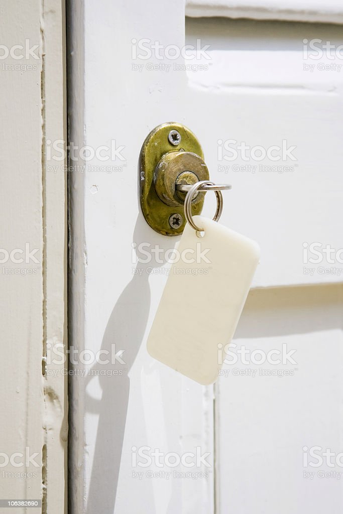 Motel key. Color image royalty-free stock photo