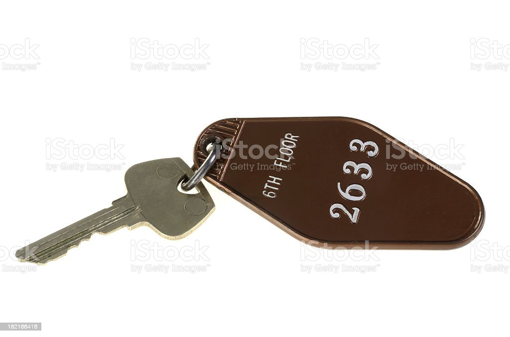 Motel Key stock photo