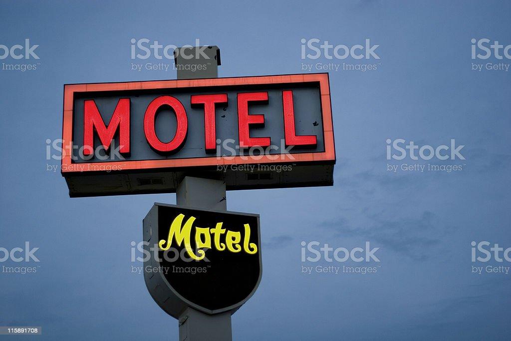 Motel neon sign stock photo