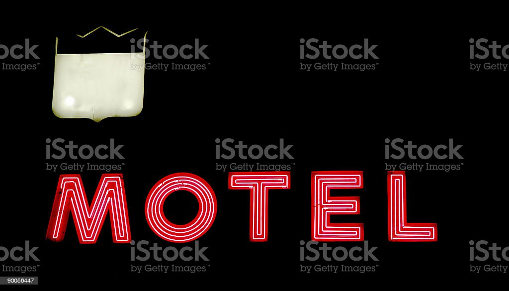 motel on hwy stock photo