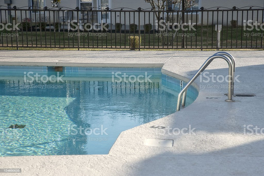 Motel Pool royalty-free stock photo