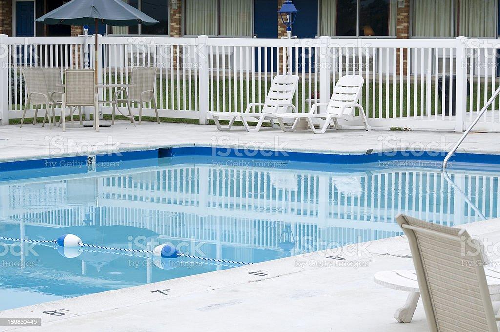 Motel Pool stock photo