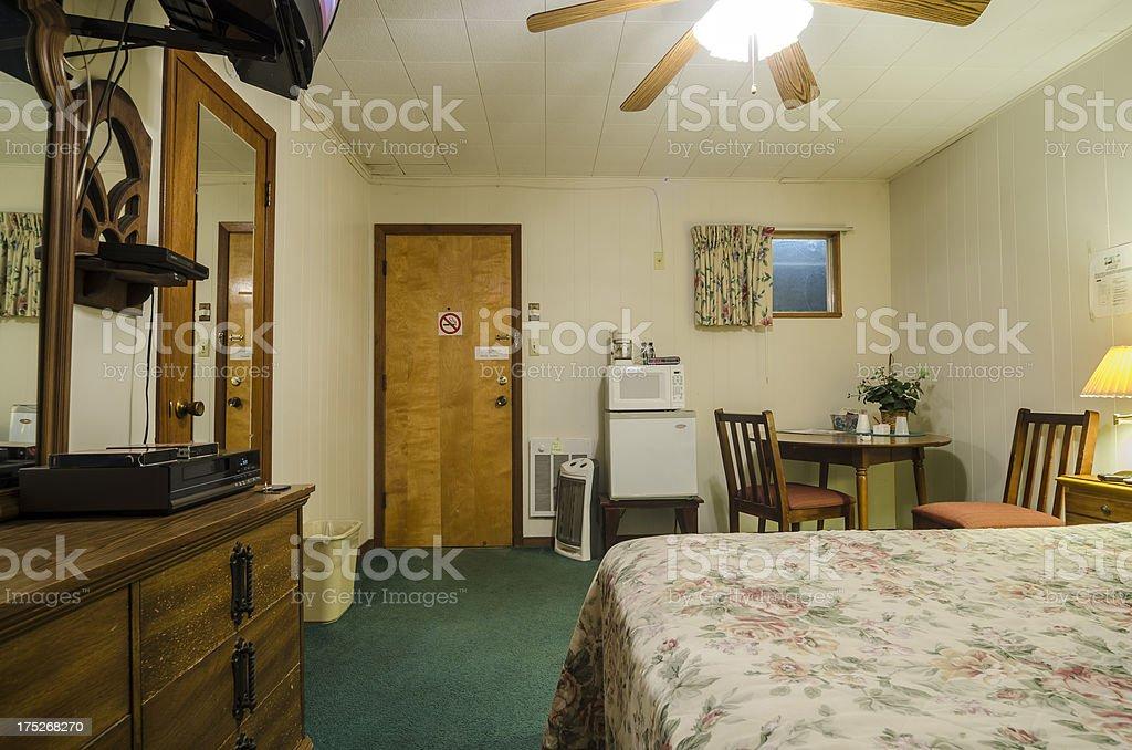 Motel room royalty-free stock photo