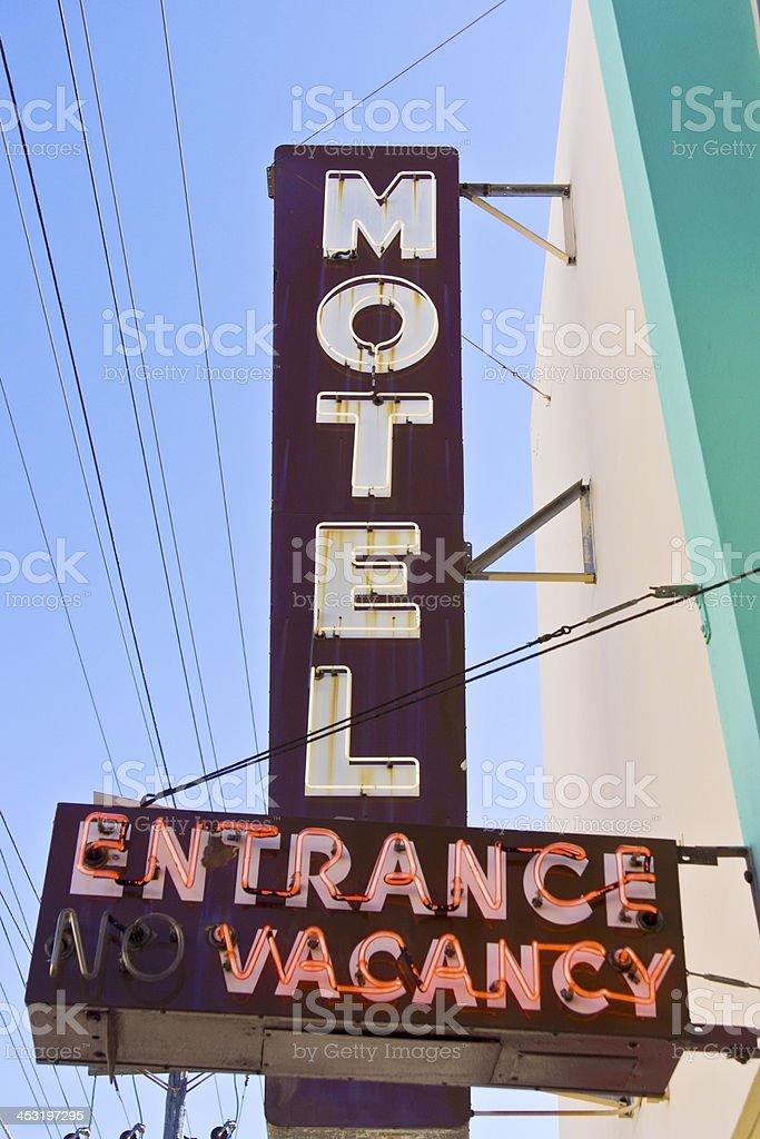 Motel Sign stock photo
