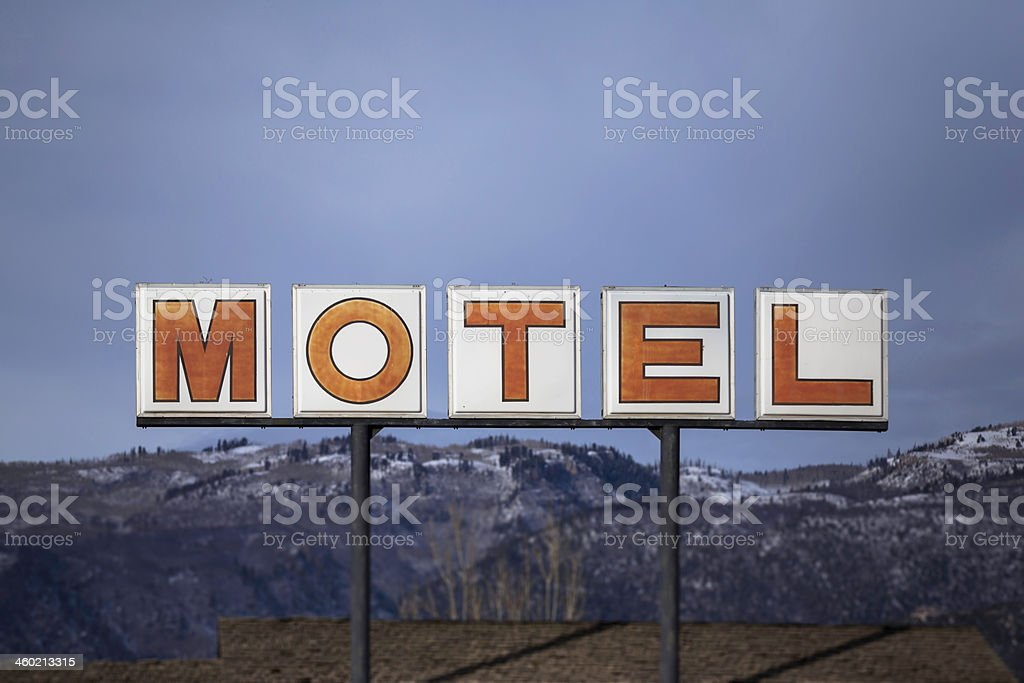 Motel Sign royalty-free stock photo