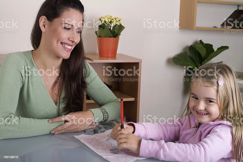 mother an daughter royalty-free stock photo