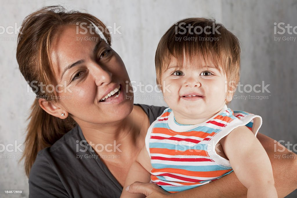 Mother and Baby Boy royalty-free stock photo