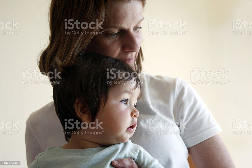 Mother and baby child portrait stock photo