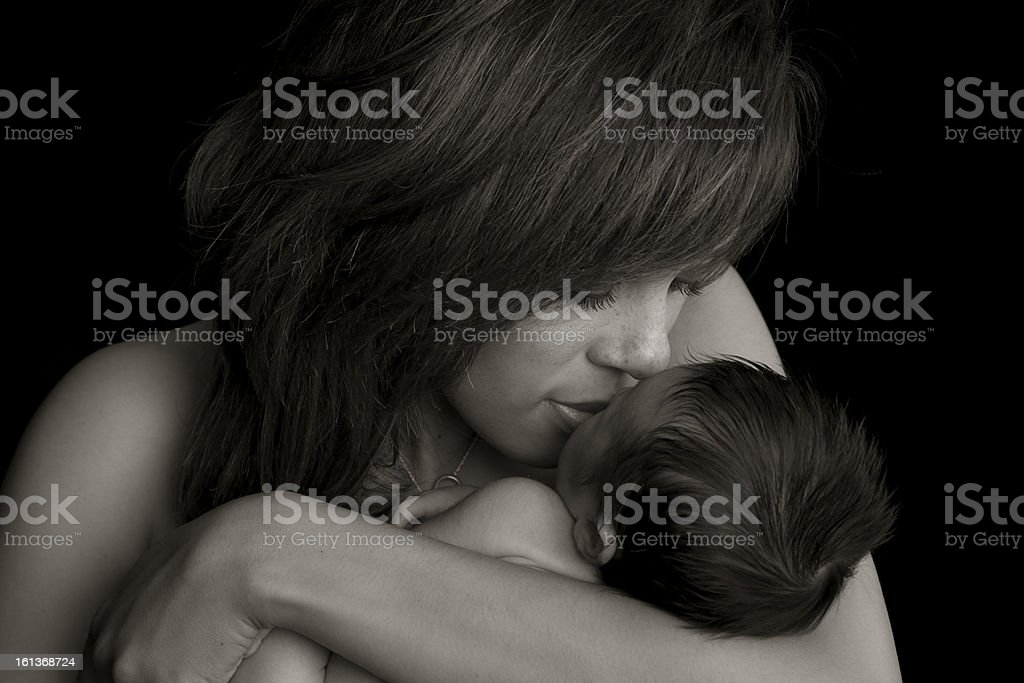 Mother and Baby Connection royalty-free stock photo