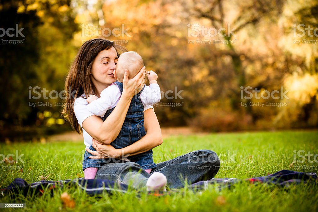 Mother and baby stock photo