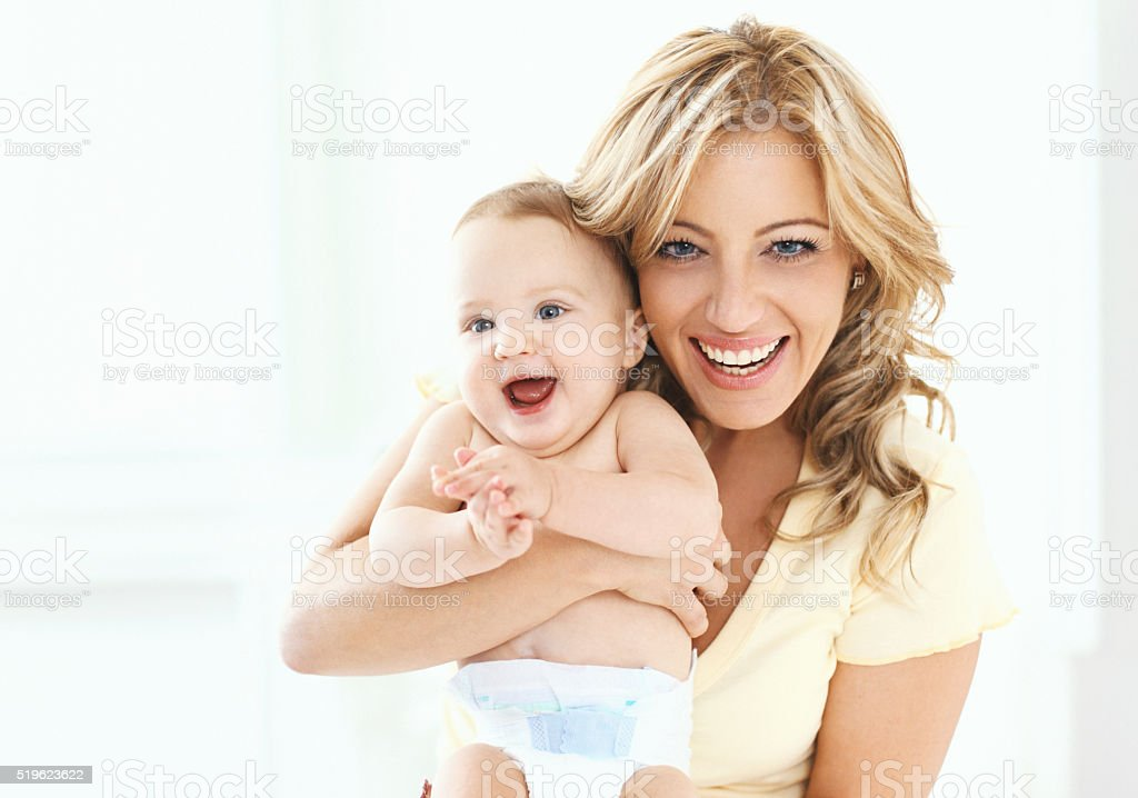 Mother and baby. stock photo