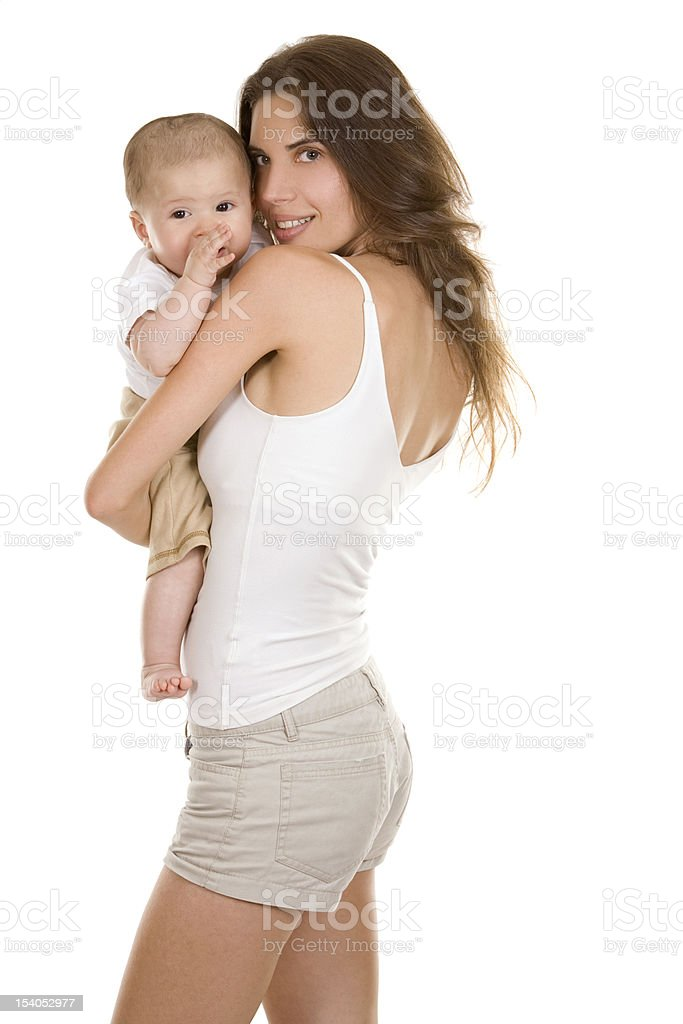 mother and baby son royalty-free stock photo