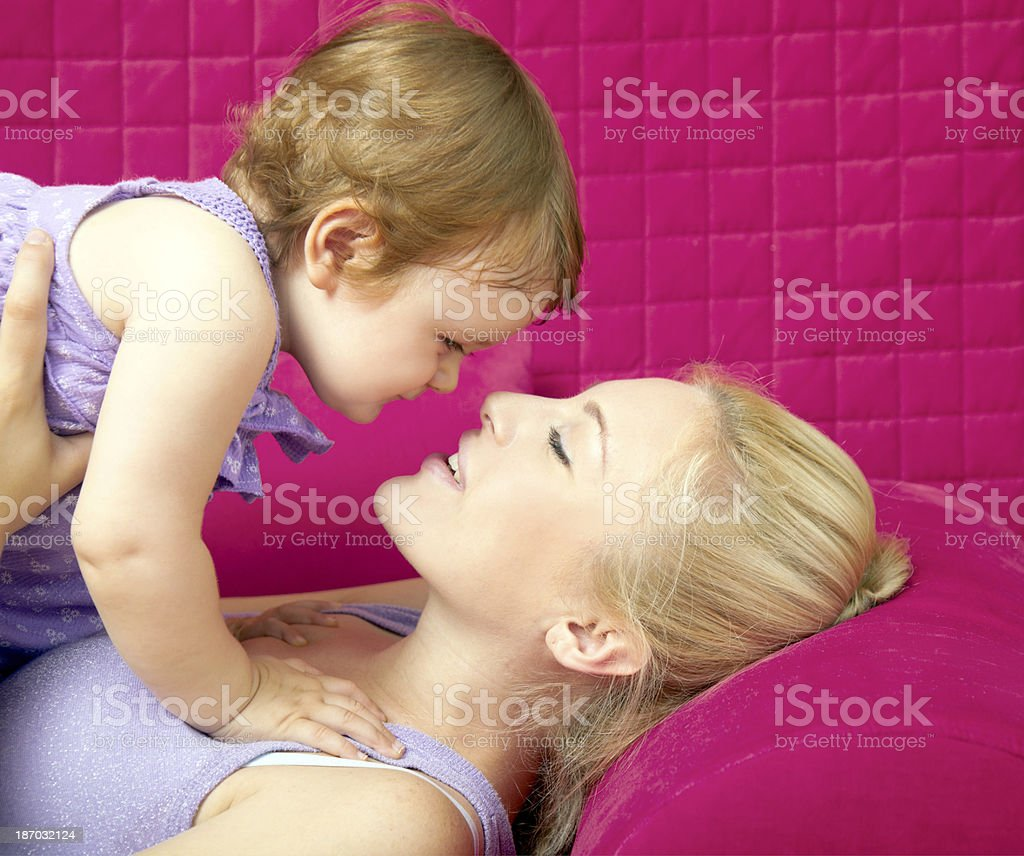 Mother and baby togetherness royalty-free stock photo