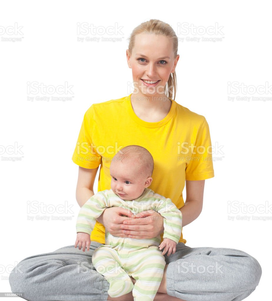Mother and Baby yoga Stockimage royalty-free stock photo