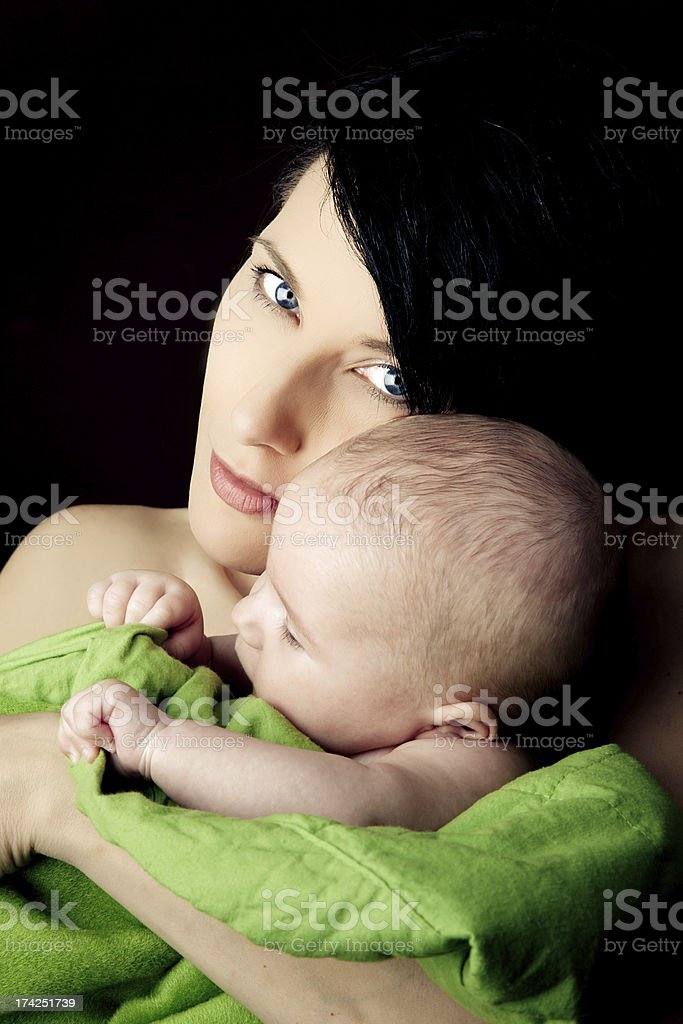 Mother and babygirl royalty-free stock photo