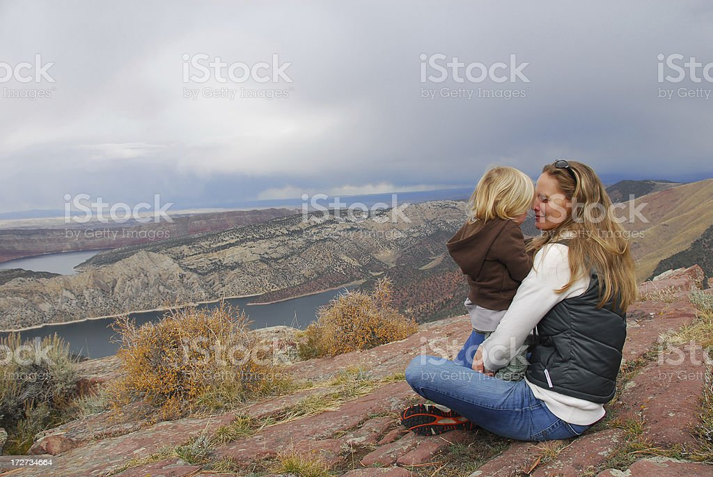 Mother and Child at Gorge royalty-free stock photo