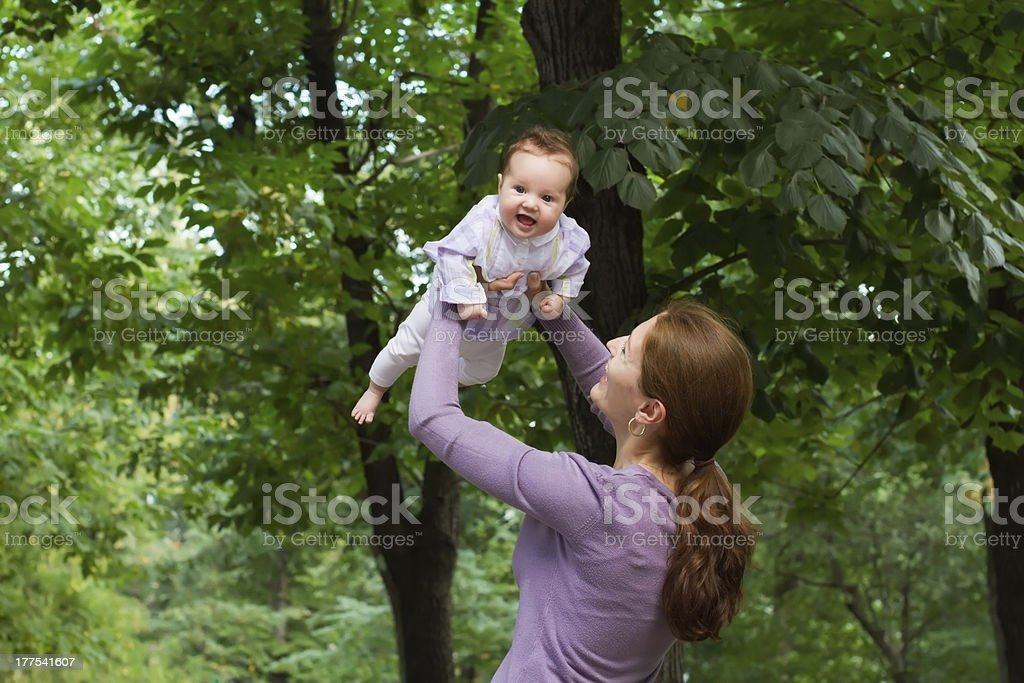 Mother and child at the park royalty-free stock photo