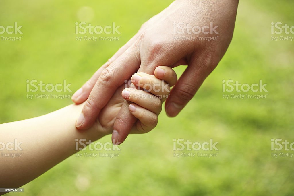 Mother and Child Holding Hands royalty-free stock photo