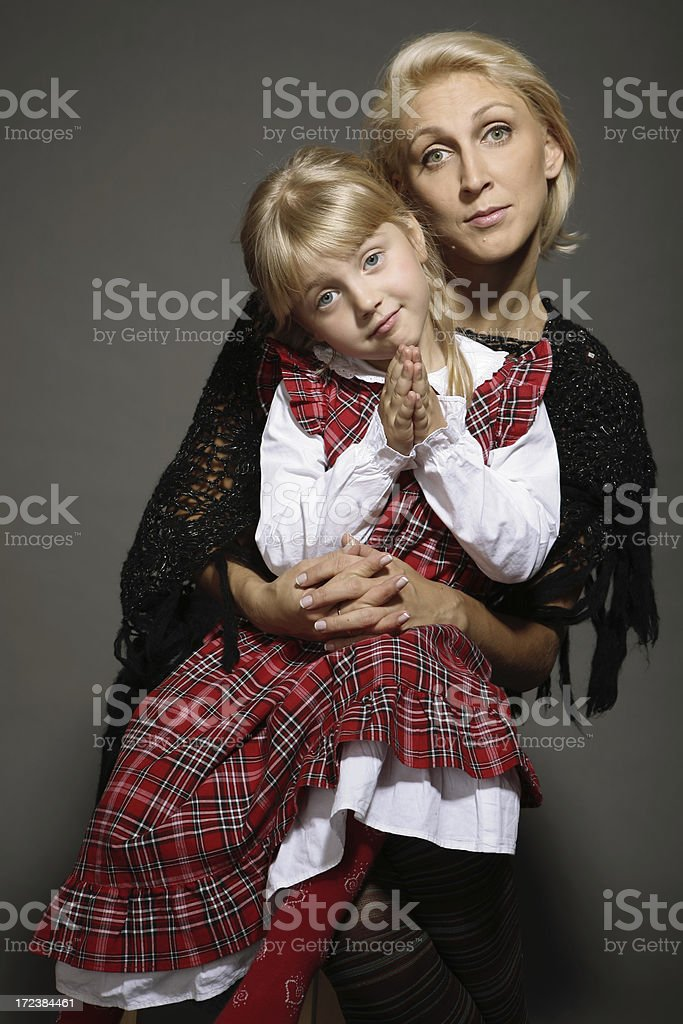 mother and child hugging royalty-free stock photo