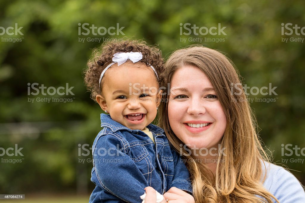 Mother and daugher stock photo