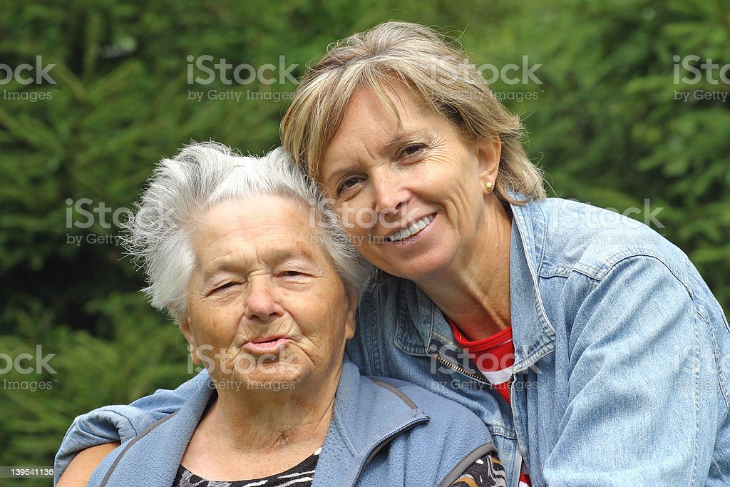 mother and daughter [1] royalty-free stock photo