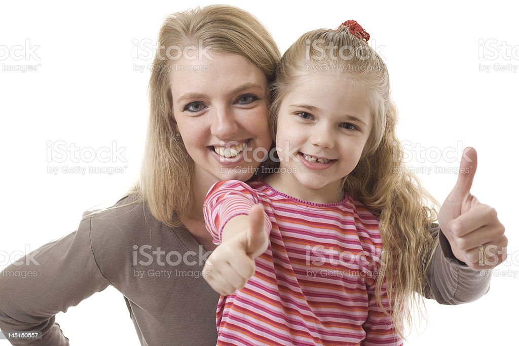 Mother and Daughter Approval royalty-free stock photo