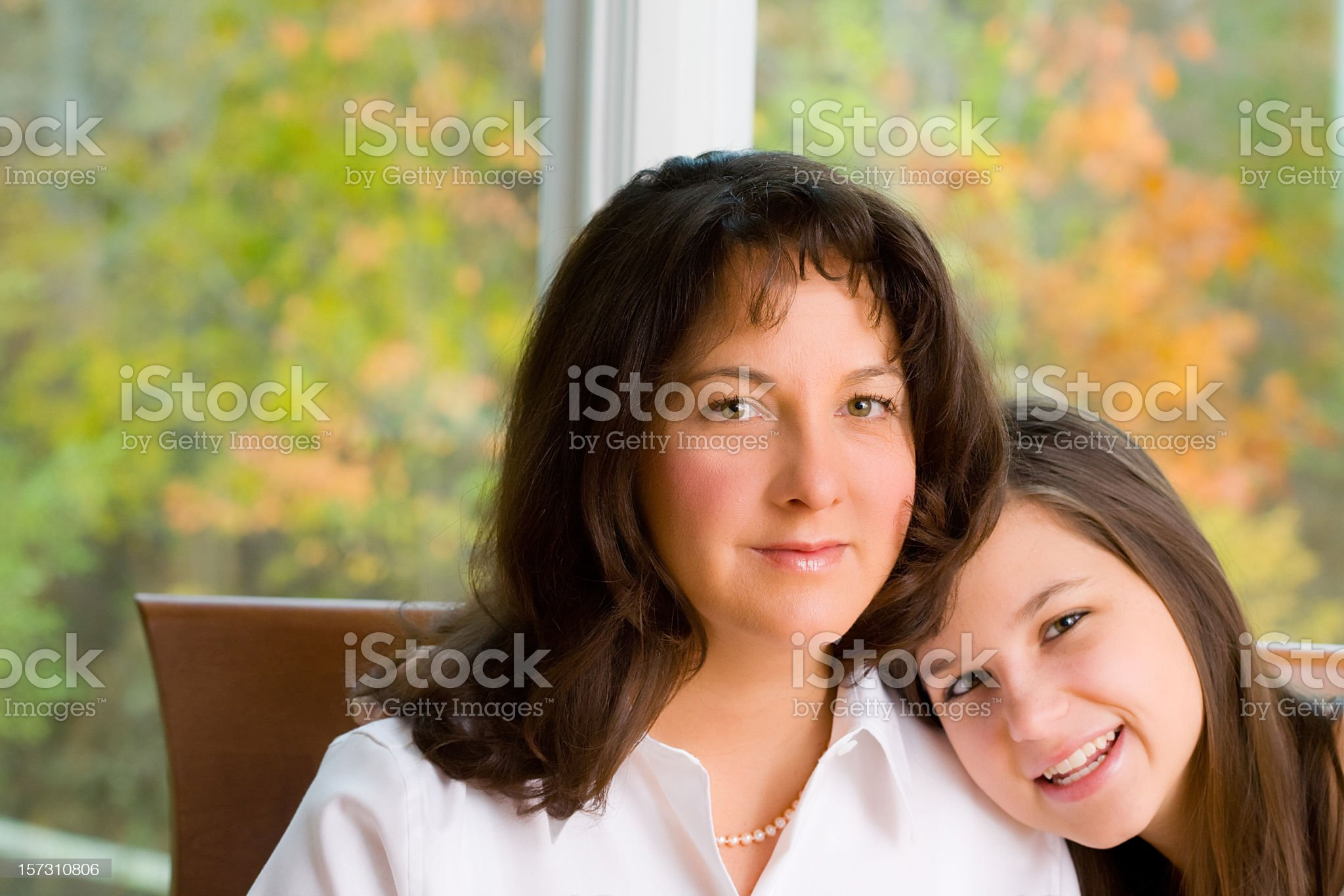 Mother and Daughter at Home royalty-free stock photo