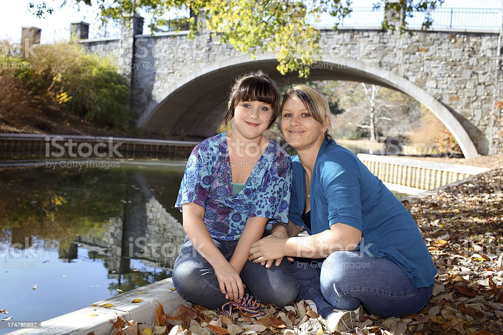 Mother and Daughter Bonding stock photo