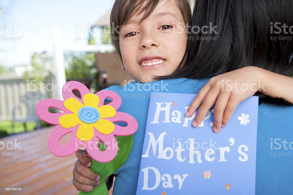 Mother and daughter celebrating Mother's Day stock photo