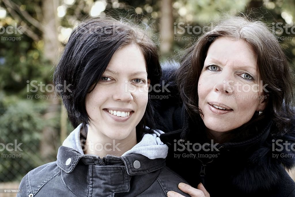 Mother and daughter close-up royalty-free stock photo