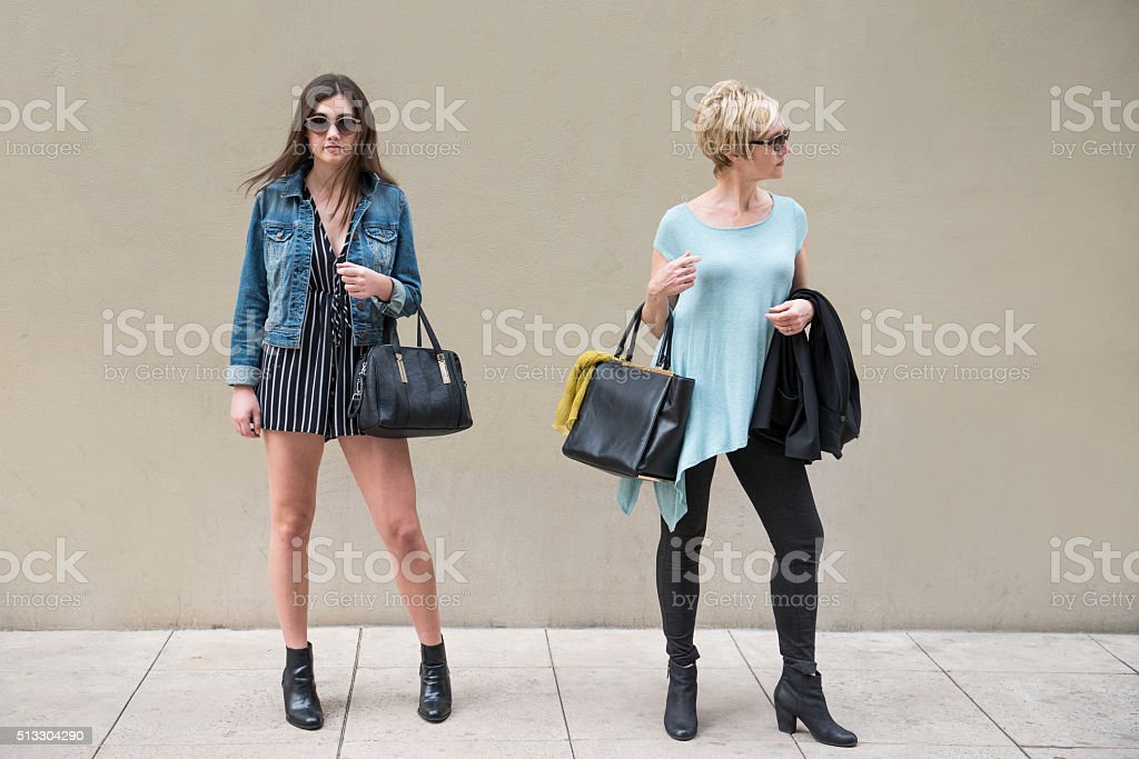 Mother and Daughter Disagreement stock photo